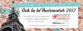 The theme for The Excellence in Housewares Awards 2017 is Vintage Paris