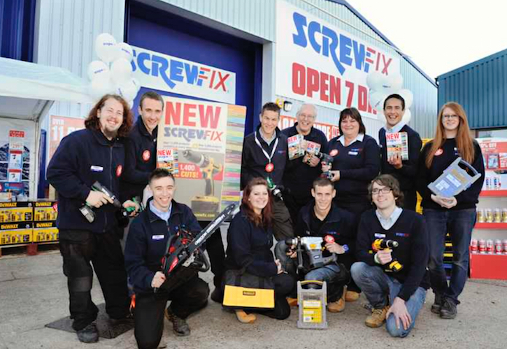 Screwfix opens eight new branches in March