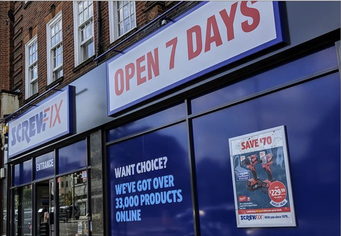 Screwfix opens seven stores in eight weeks