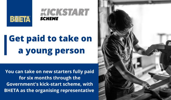 BHETA enables suppliers to get paid to take on a young person through Kickstart