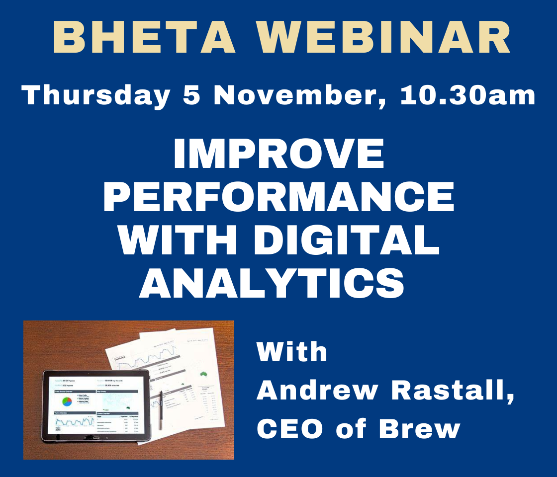 BHETA Webinar – Improve performance with digital analytics