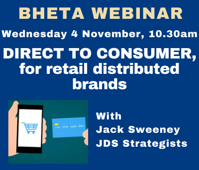 BHETA Webinar – Direct-to-Consumer, for retail distributed brands
