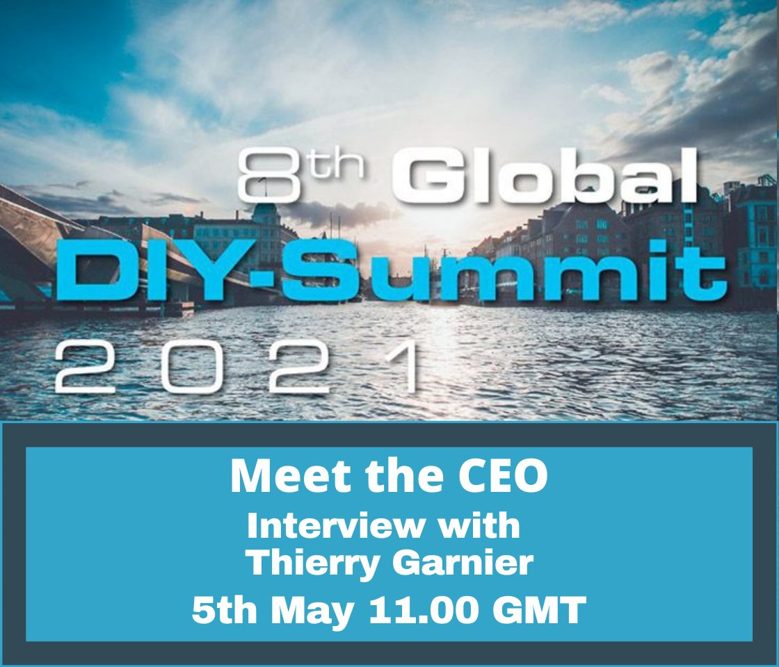 The Global DIY Network Webinar – Meet the CEO – Interview with Thierry Garnier