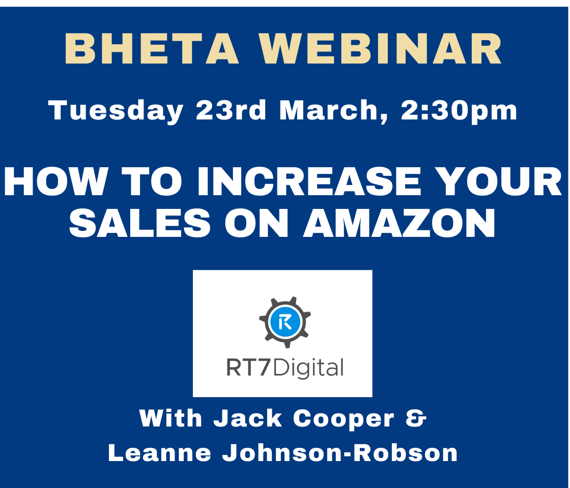 BHETA Webinar – How to increase your sales on Amazon