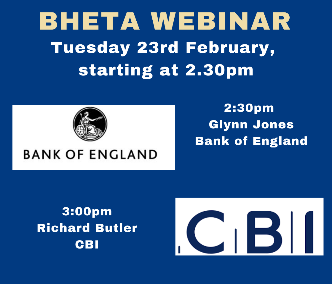 BHETA Webinar -Updates from the Bank of England and CBI