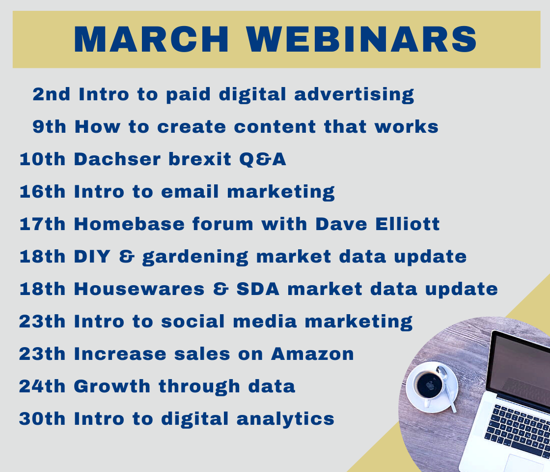 Busy March webinar schedule for members