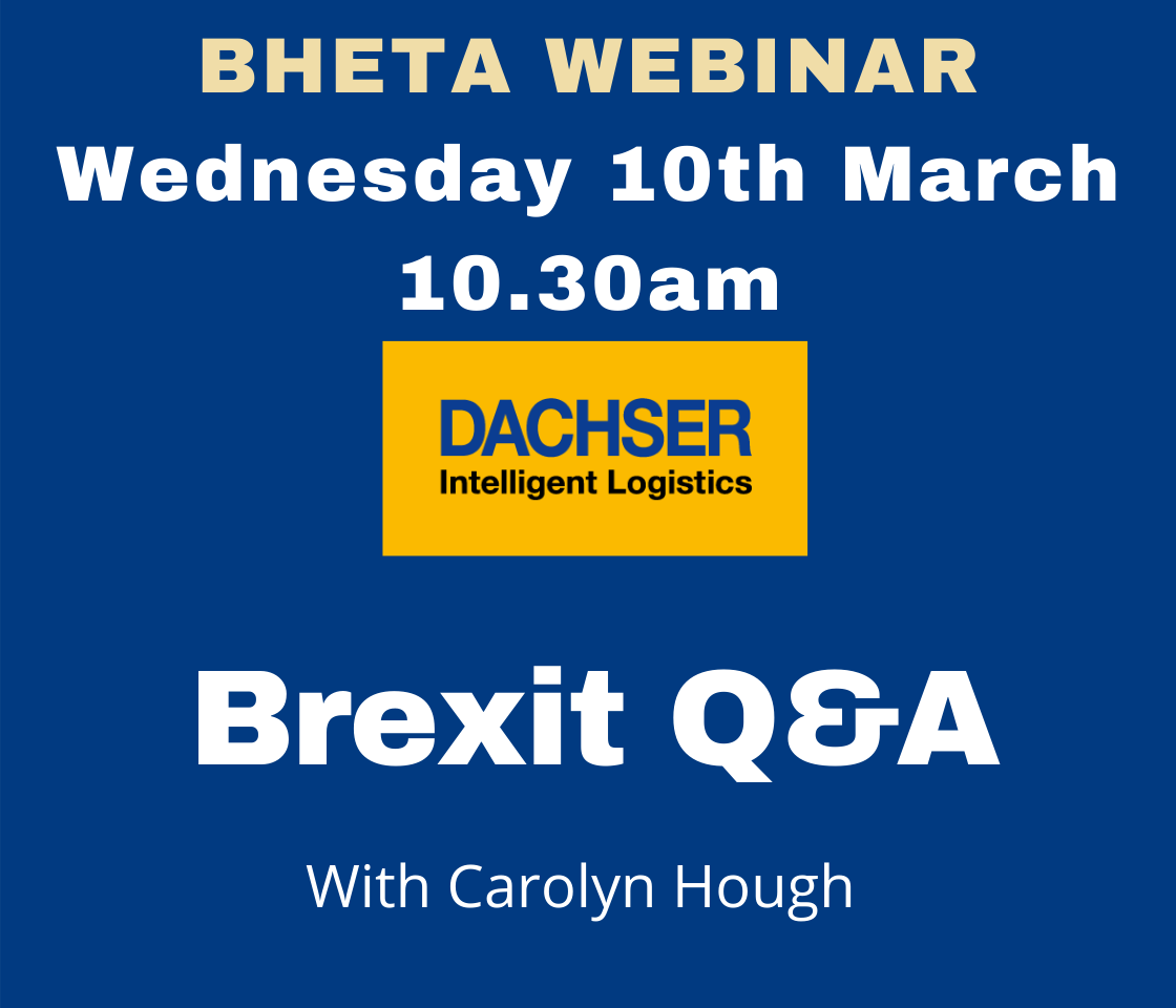 BHETA to hold Q&A session on Brexit and international freight issues