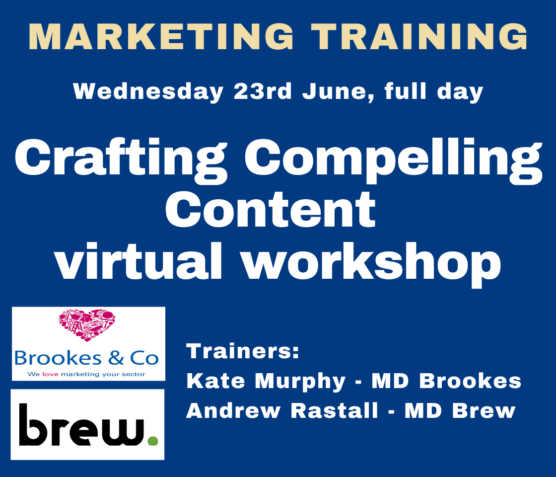 Brew & Brookes – Crafting Compelling Content virtual workshop