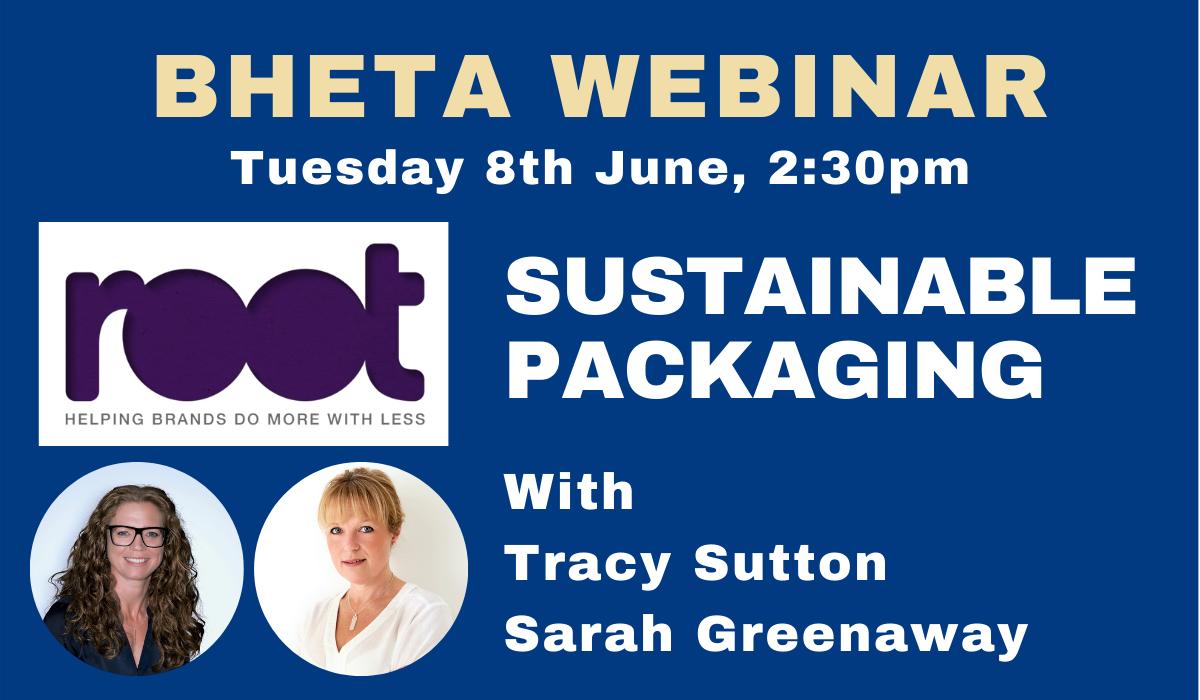 BHETA Webinar on sustainable packaging very popular