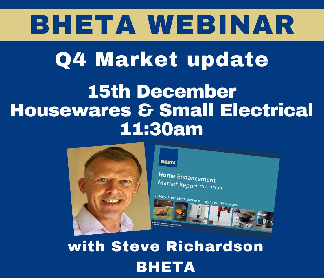 WEBINAR: BHETA Q4 Housewares & Small Electricals market update