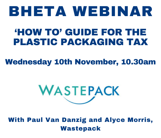 BHETA Webinar – 'How To' Guide For The Plastic Packaging Tax